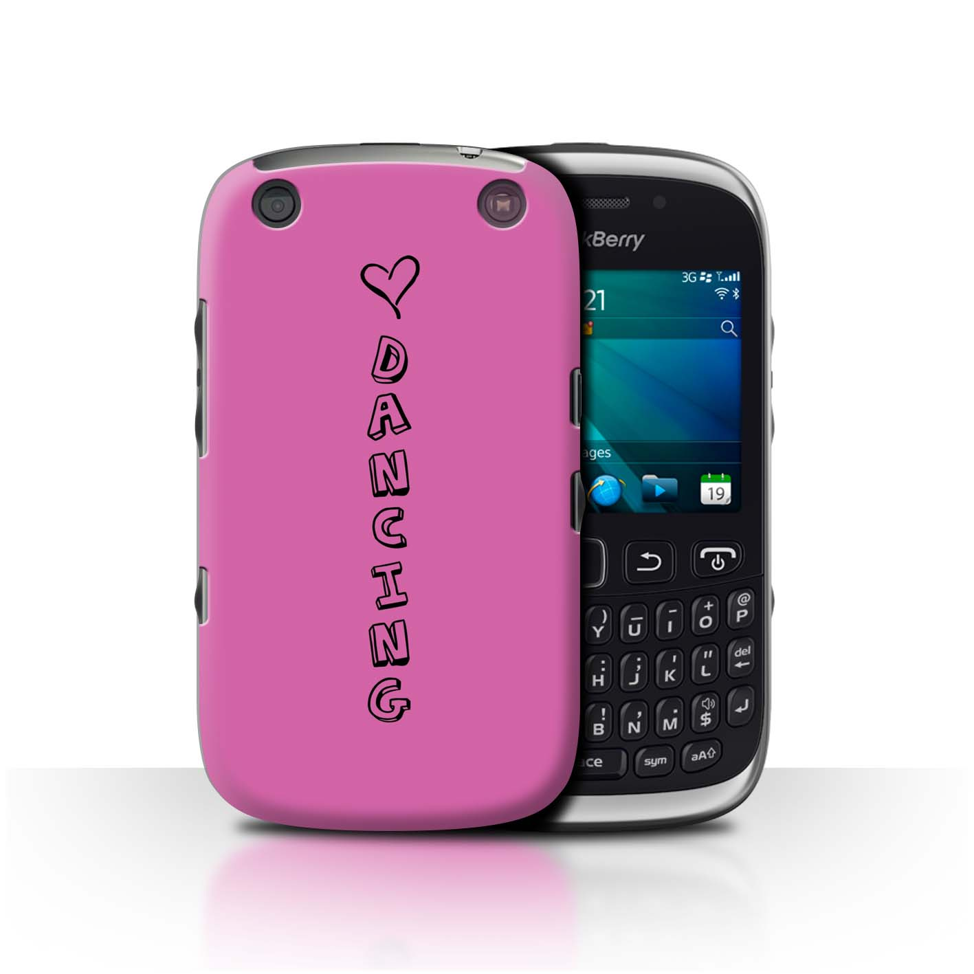 Stuff4 Hülle/Case/Backcover für Blackberry Curve 9320/Herz XOXO