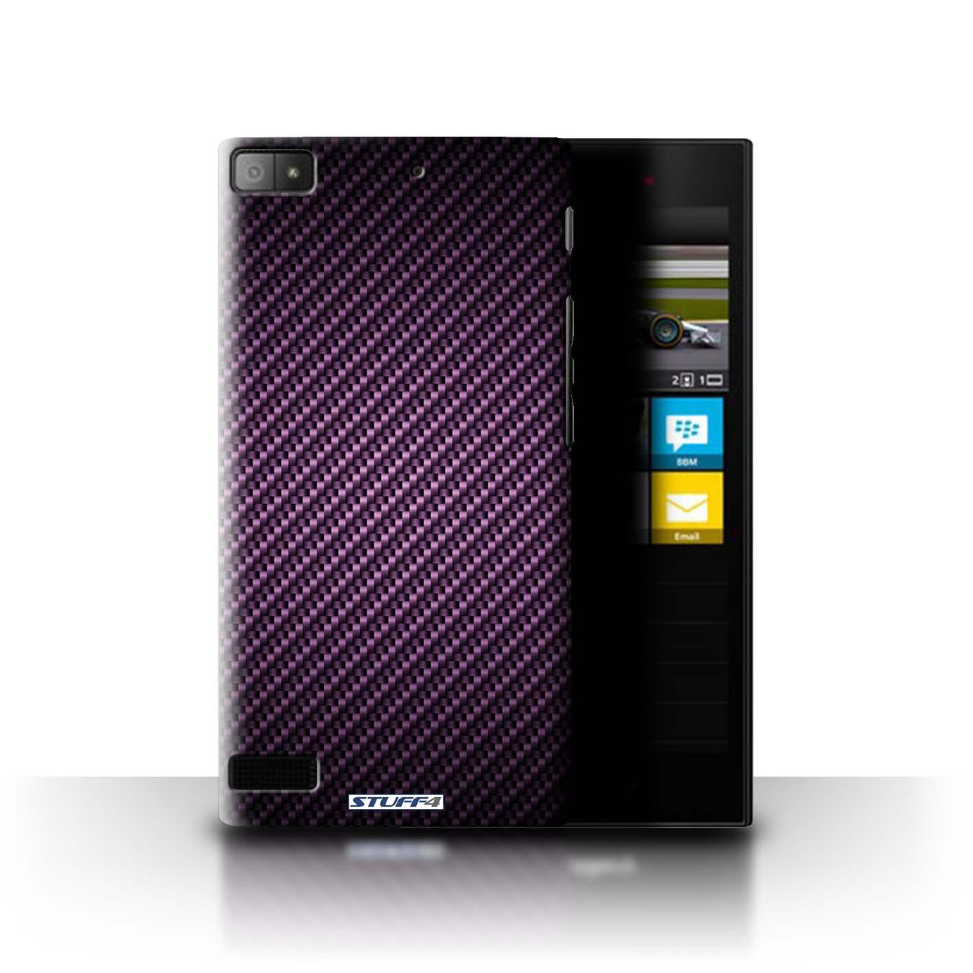 Coque-Etui-Housse-de-Stuff4-pour-Blackberry-Z3-Motif-de-Fibre-de-Carbone