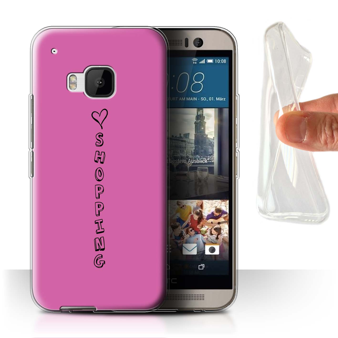 Stuff4 Gel/TPU Hülle/Case für HTC One/1 M9/Herz XOXO