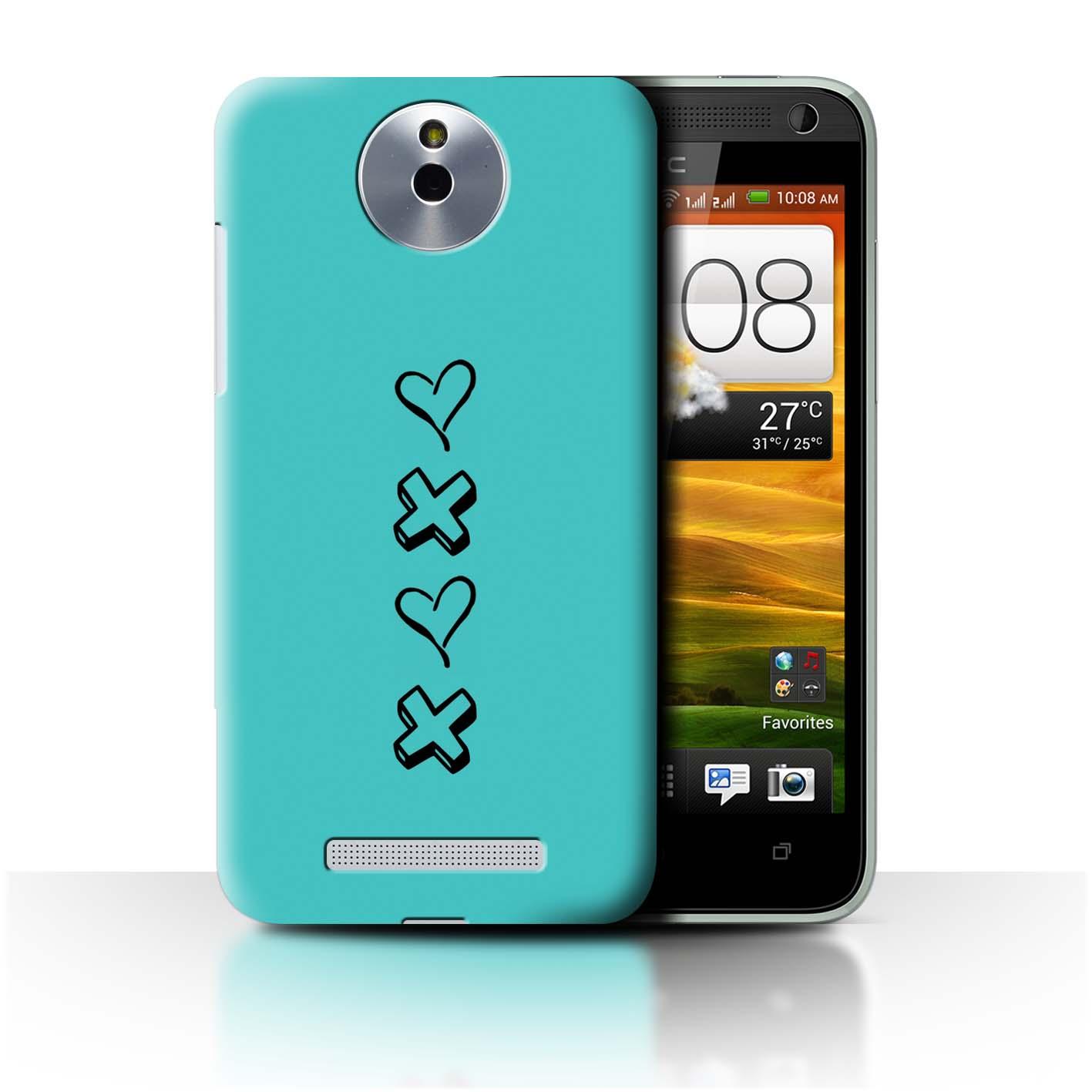 Stuff 4 teléfono caso/cubierta trasera para HTC Desire 501/Corazón Xoxo