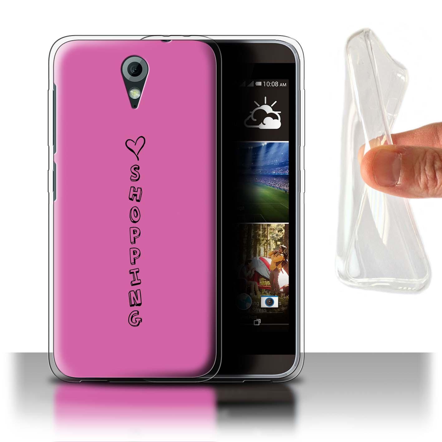 Stuff 4 Gel/teléfono caso de TPU para HTC Desire 620/Corazón Xoxo