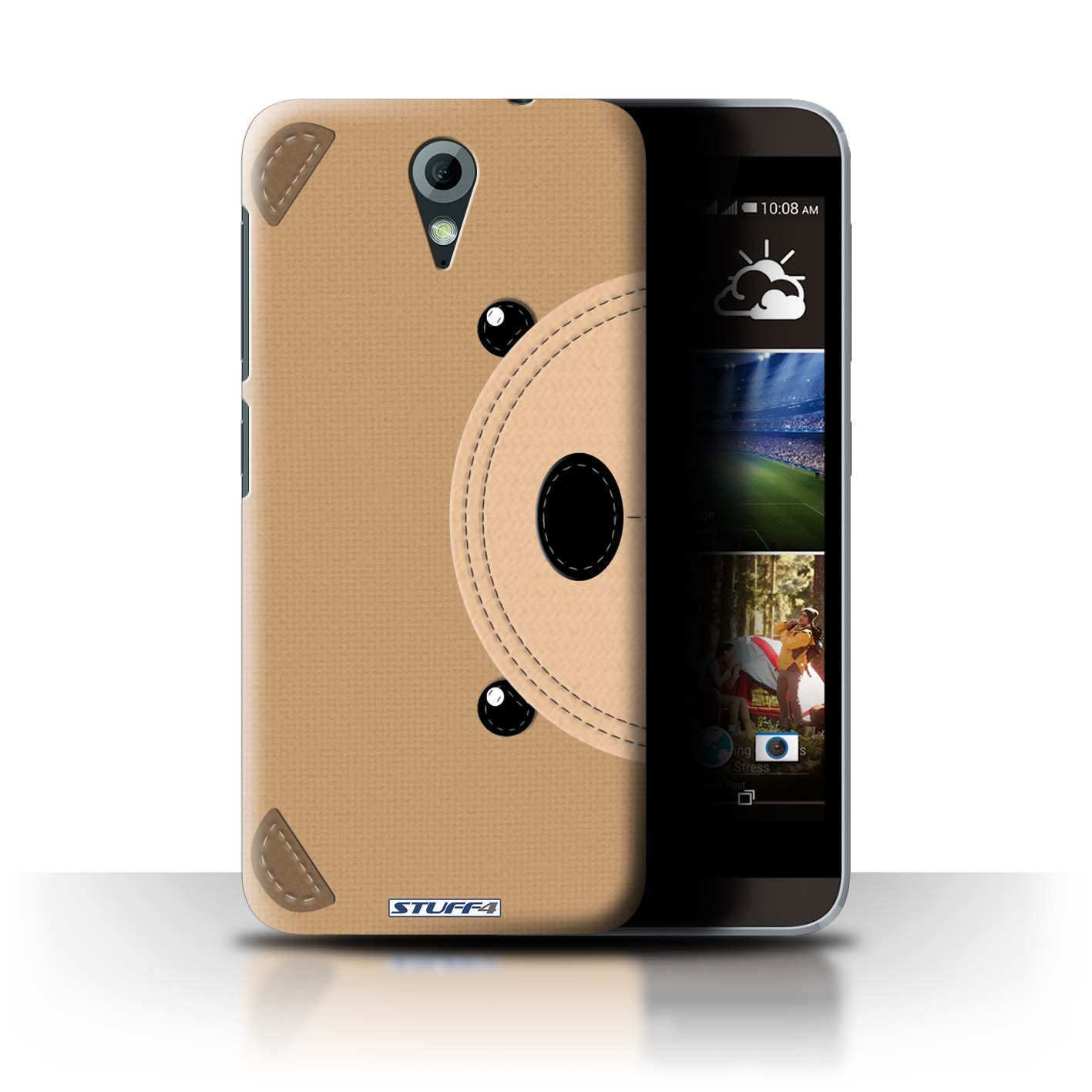 STUFF4 Back Case/Cover/Skin for HTC Desire 620G/Animal Stitch Effect
