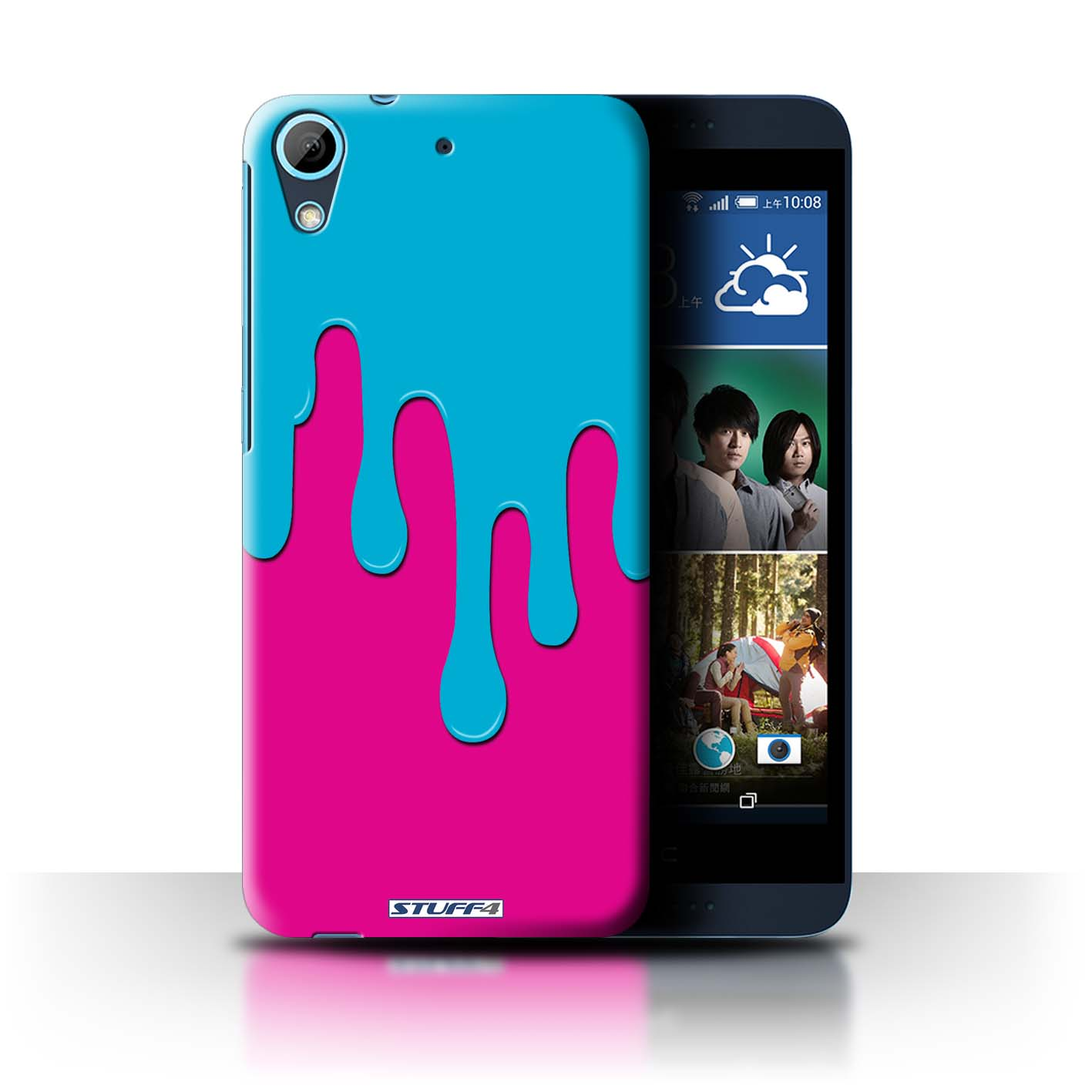 STUFF4 Back Case/Cover/Skin for HTC Desire 626G+/Paint Spill