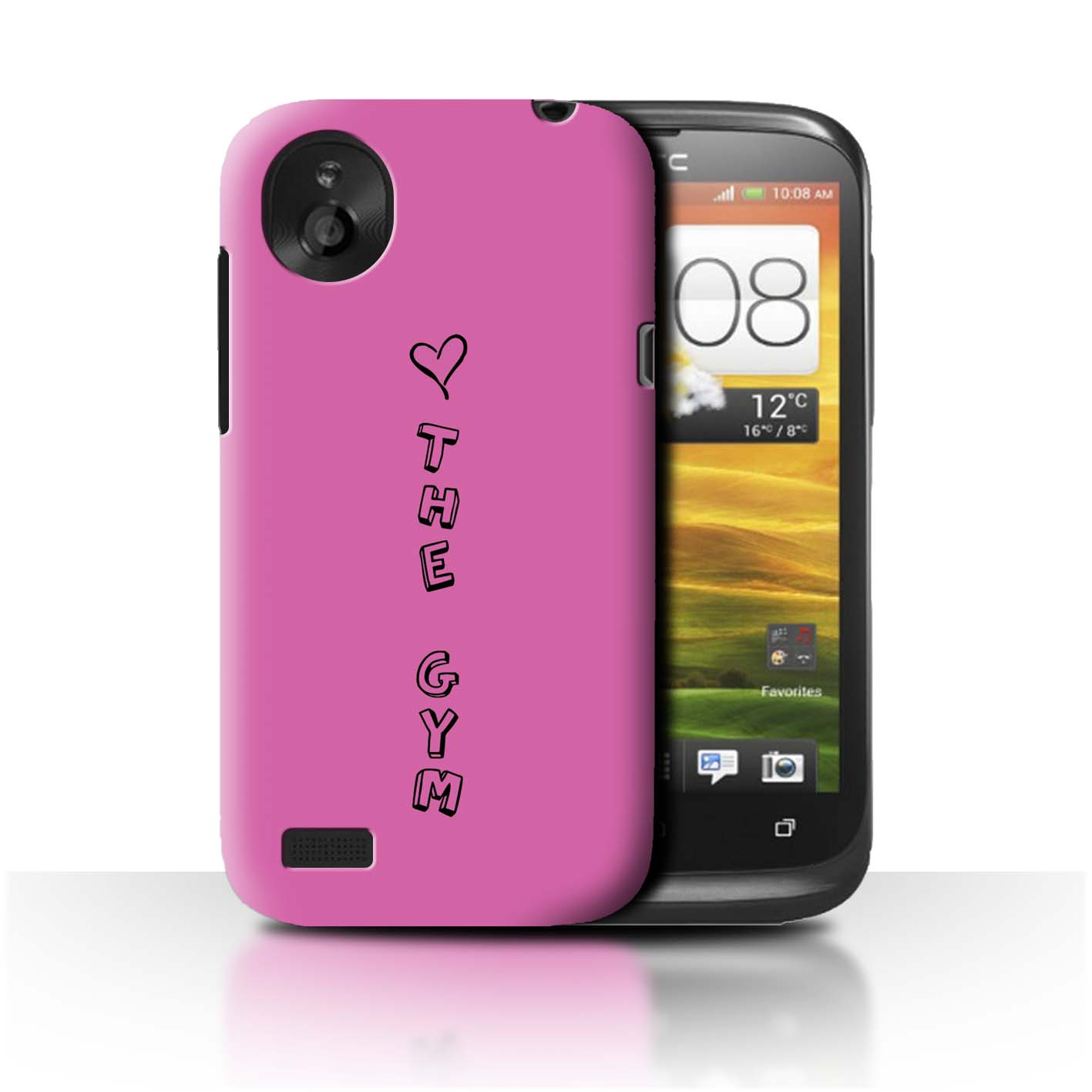 STUFF4 Phone Case/Back Cover for HTC Desire V /Heart XOXO
