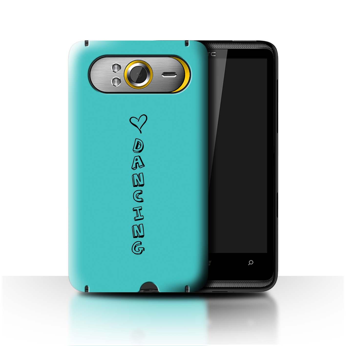 Stuff 4 teléfono caso/cubierta trasera para HTC HD7/Corazón Xoxo