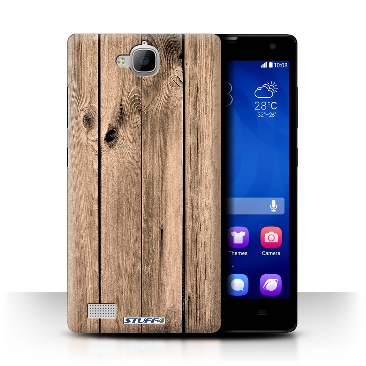 STUFF4-Coque-Etui-pour-Huawei-Honor-Smartphone-Motif-Grain-de-Bois-Housse