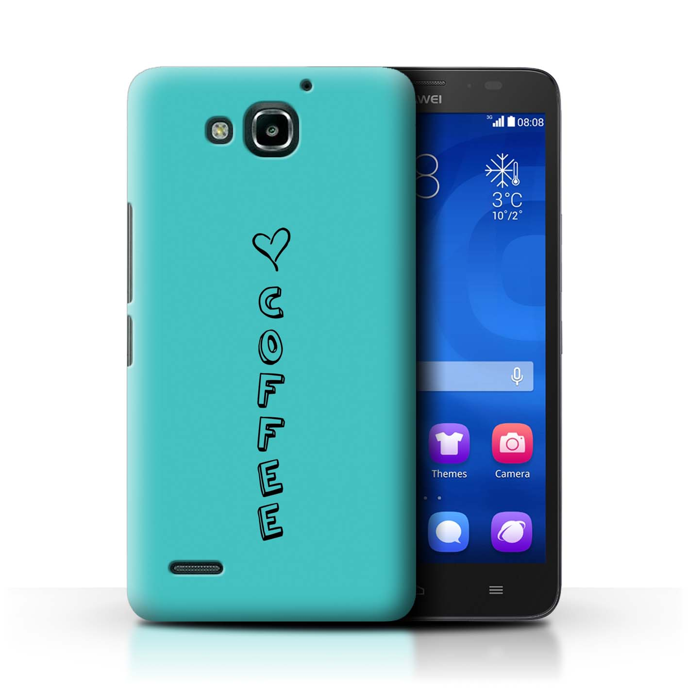 Stuff 4 teléfono caso/cubierta trasera para Huawei Honor 3X/G750/Corazón Xoxo