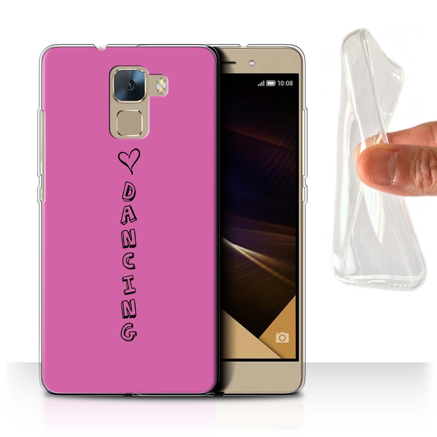 Stuff 4 Gel/TPU Funda de Teléfono para Huawei Honor 7/Corazón Xoxo