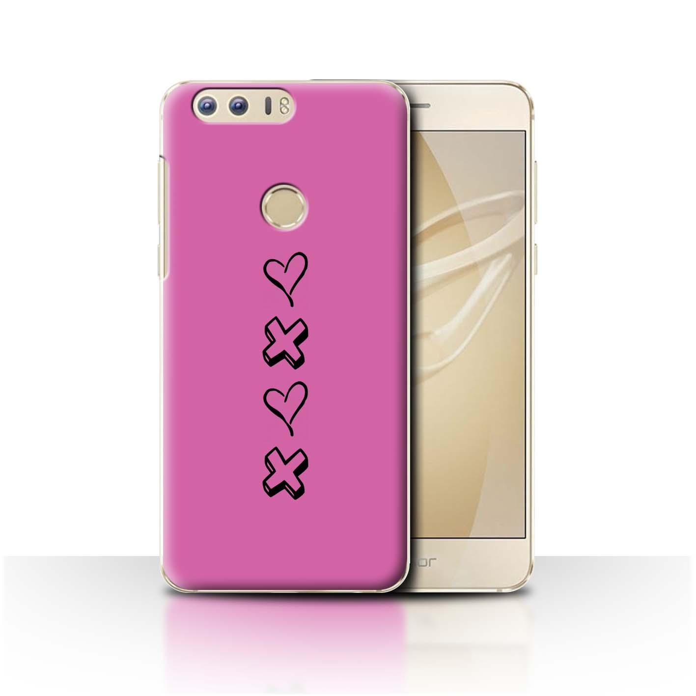 Stuff 4 teléfono caso/cubierta trasera para Huawei Honor 8/Corazón Xoxo