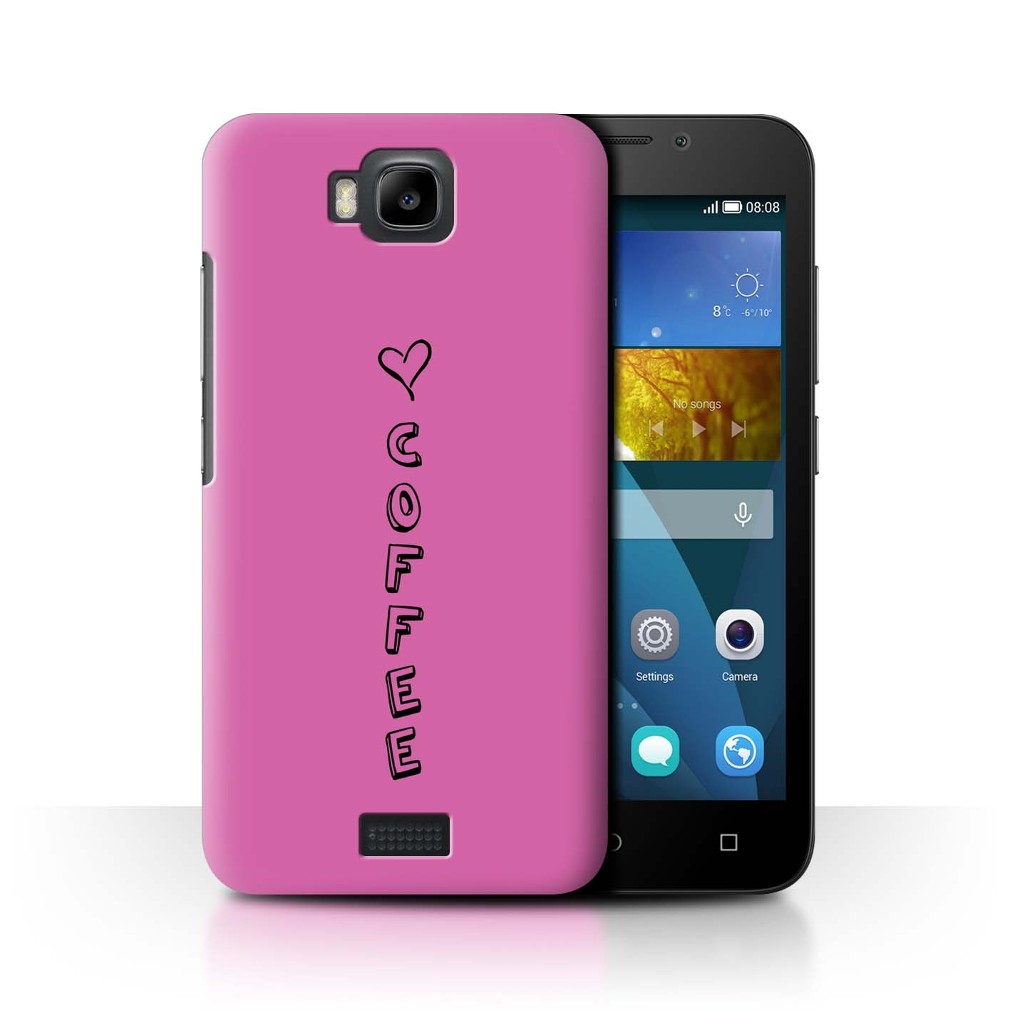 STUFF4 Phone Case/Back Cover for Huawei Honor Bee/Y5c /Heart XOXO
