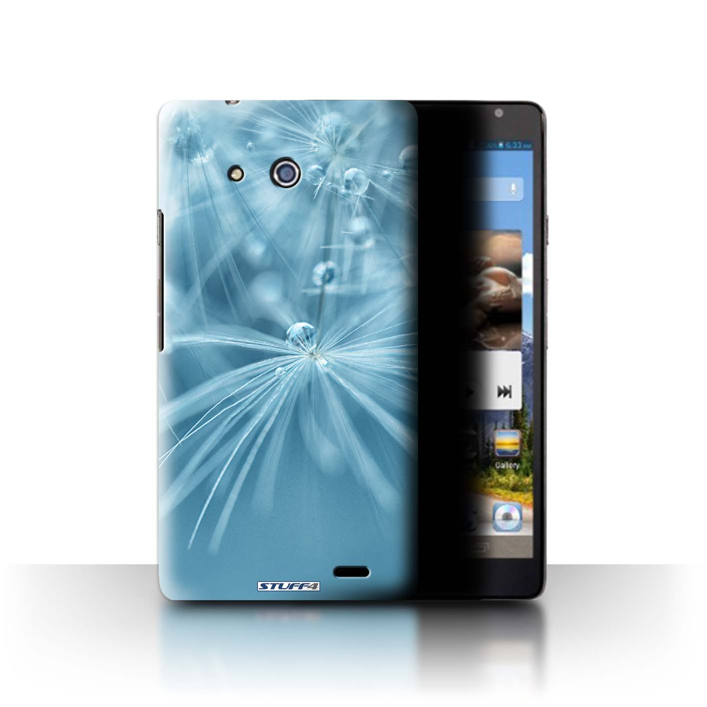 STUFF4 Phone Case/Back Cover for Huawei Ascend Mate /Floral Fairy Drops