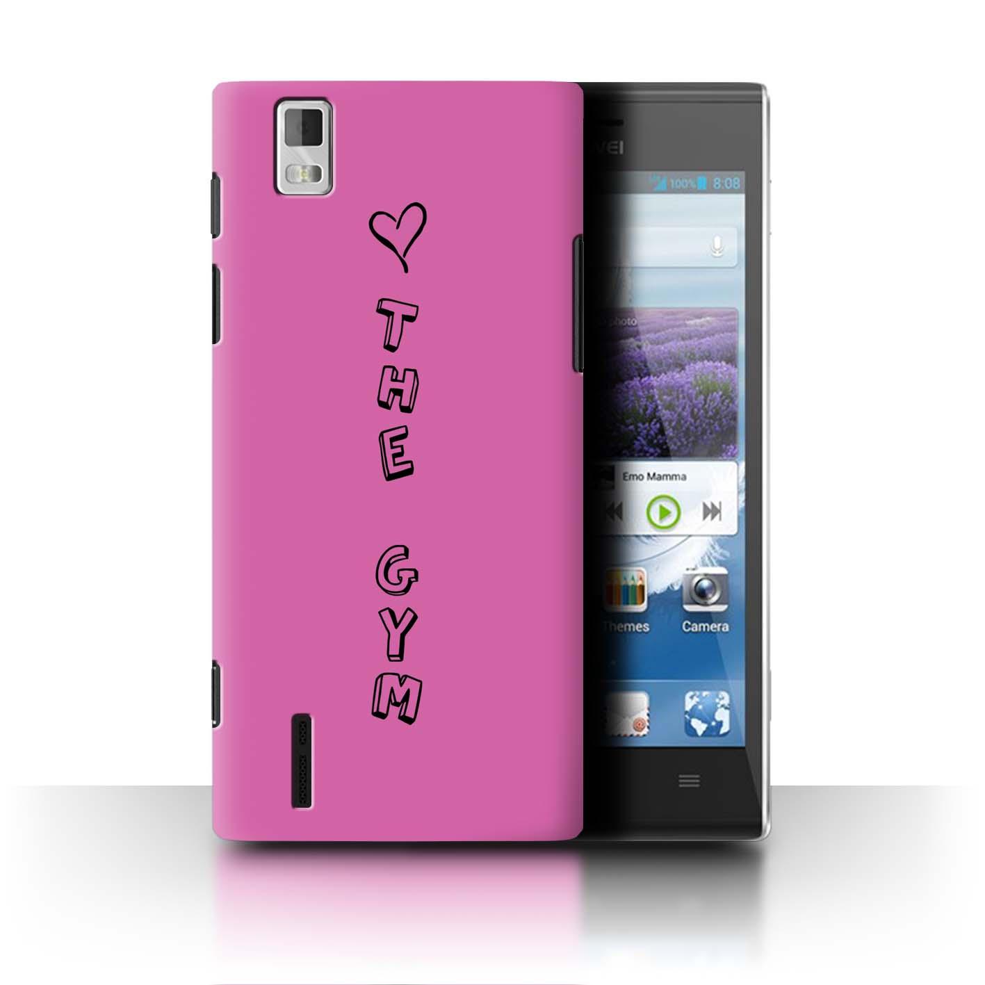 Stuff 4 teléfono caso/cubierta trasera para Huawei Ascend P2/Corazón Xoxo