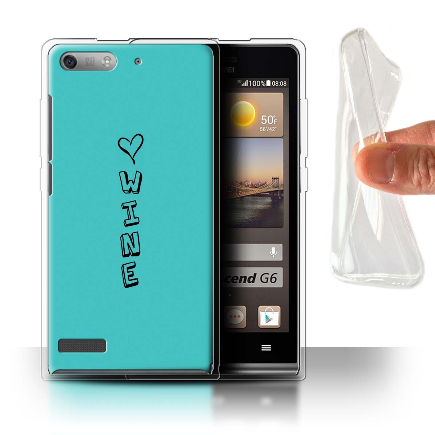 Stuff 4 Gel/TPU Funda De Teléfono Para Huawei Ascend P6 Mini/Corazón Xoxo