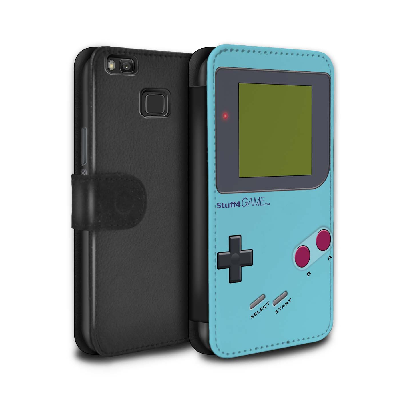 STUFF4-PU-Leather-Case-Cover-Wallet-for-Huawei-P9-Lite-Video-Gamer-Gameboy