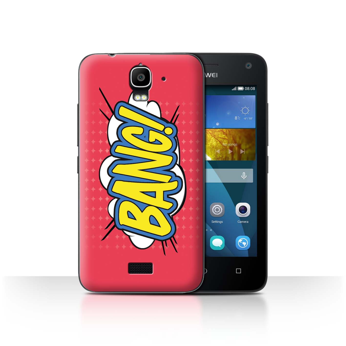 STUFF4-Back-Case-Cover-Skin-for-Huawei-Y3-Y360-Comics-Cartoon-Words