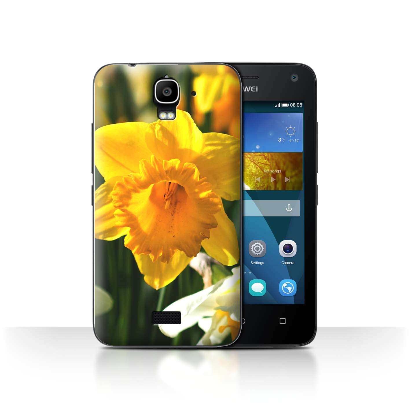 STUFF4-Back-Case-Cover-Skin-for-Huawei-Y3-Y360-Floral-Garden-Flowers