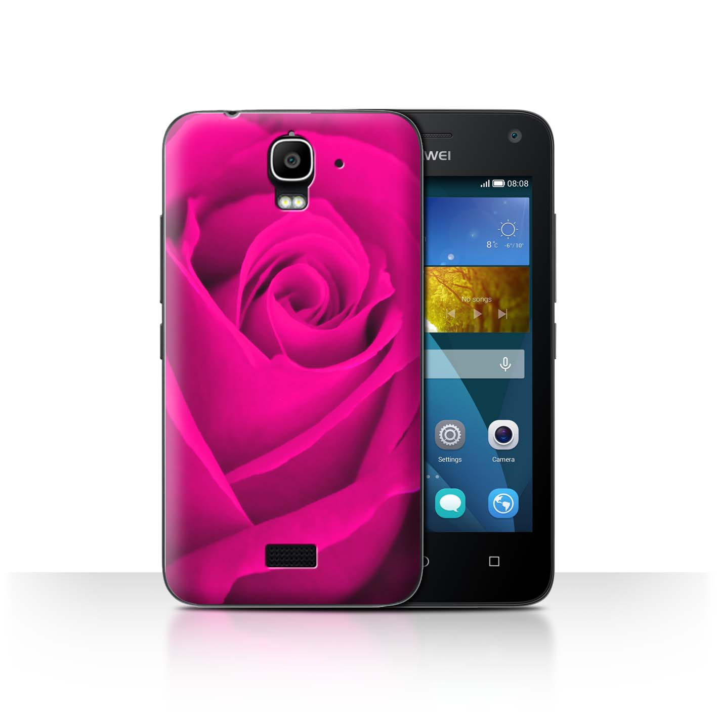 STUFF4-Back-Case-Cover-Skin-for-Huawei-Y3-Y360-Rose