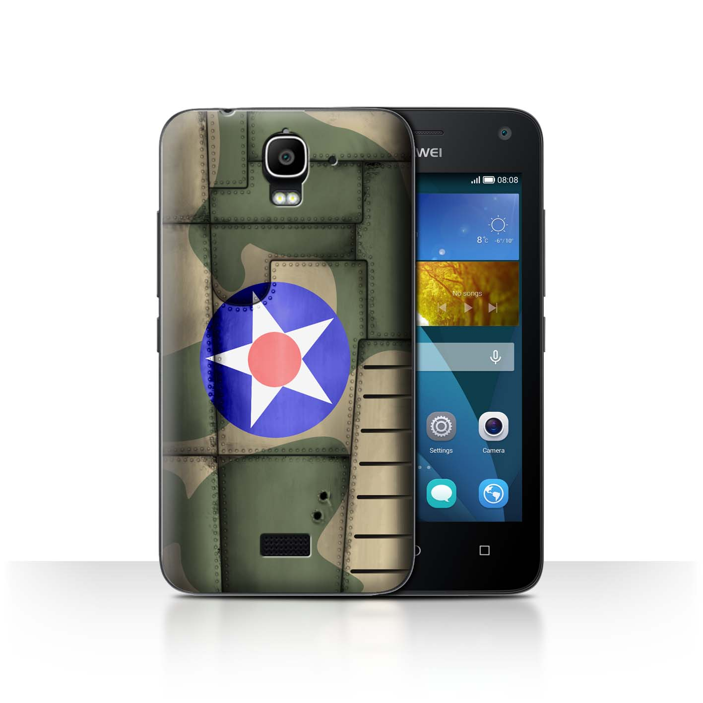 STUFF4-Back-Case-Cover-Skin-for-Huawei-Y3-Y360-Airplane-Fighter-Wing