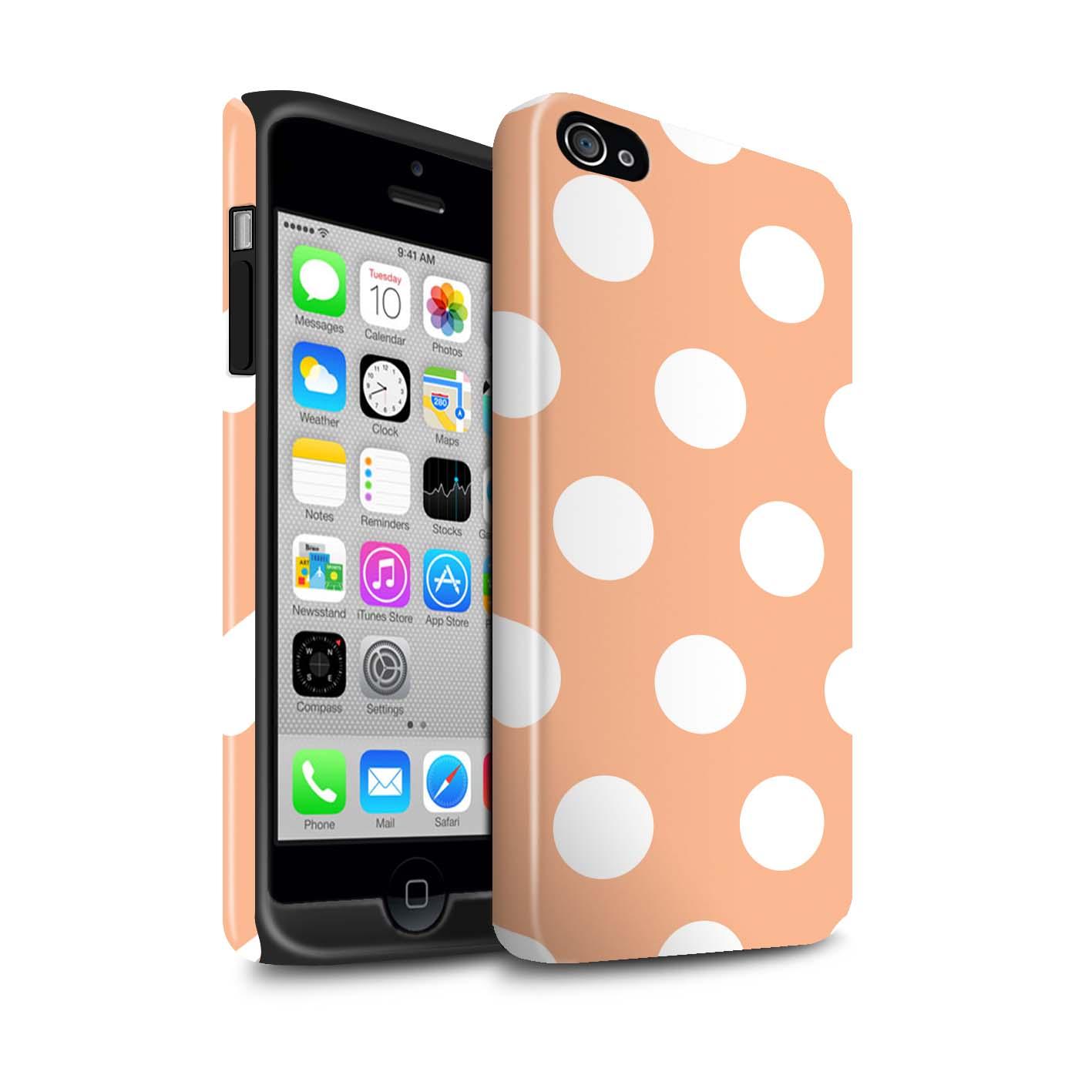 STUFF4-Coque-Robuste-Brillant-pour-Apple-iPhone-Smartphone-Motif-a-Pois-Etui