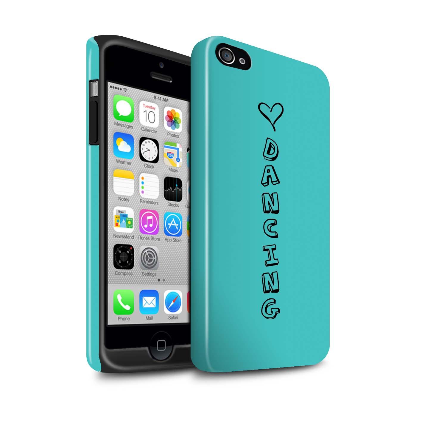STUFF4 Glanz Zähen Stoßfestes Hülle/Case für Apple iPhone 4/4S /Herz XOXO