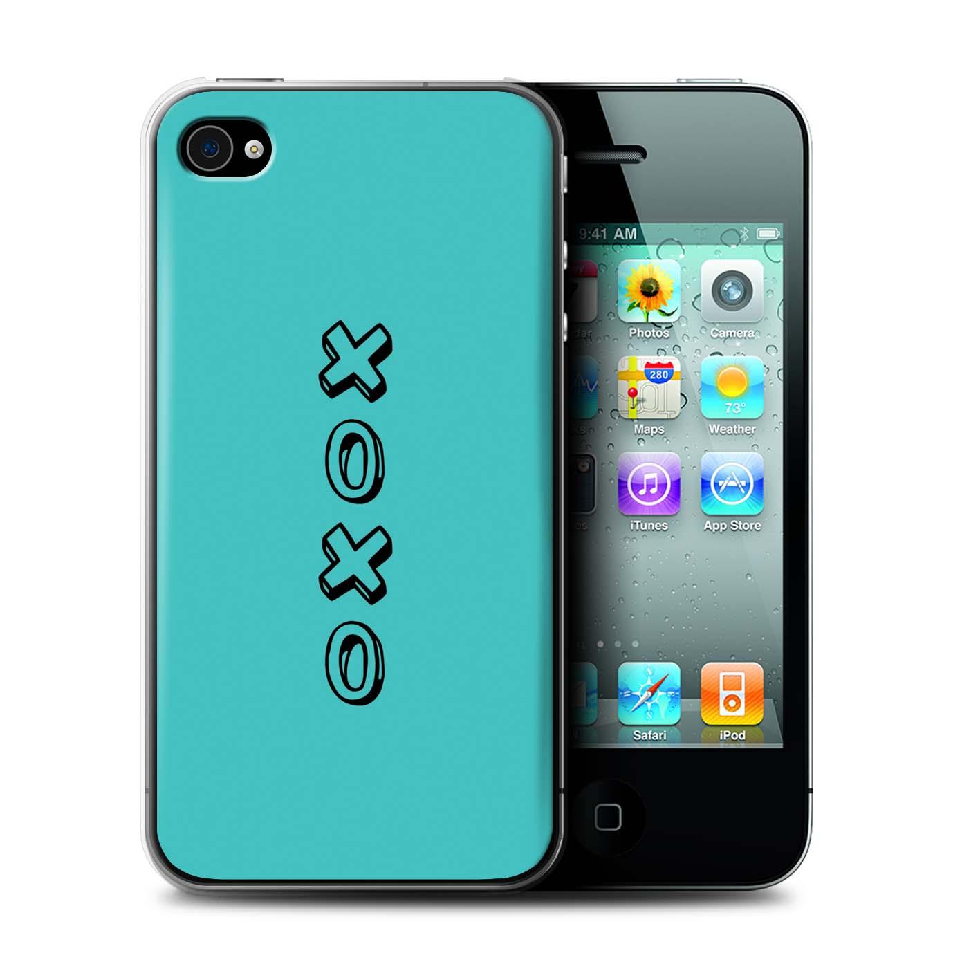 Stuff4 Hülle/Case/Backcover für Apple iPhone 4/4S/Herz XOXO