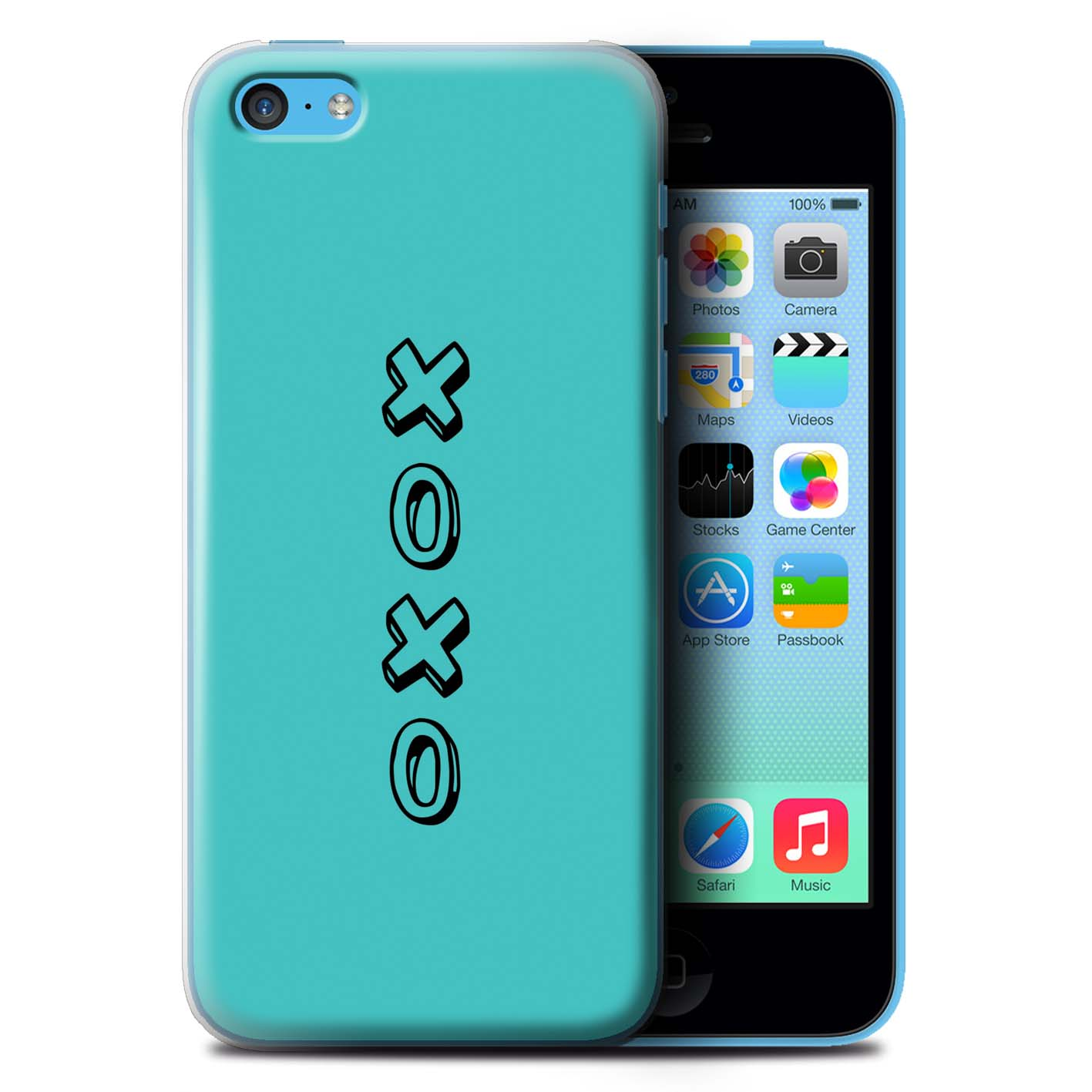 STUFF4 Phone Case/Back Cover for Apple iPhone 5C /Heart XOXO
