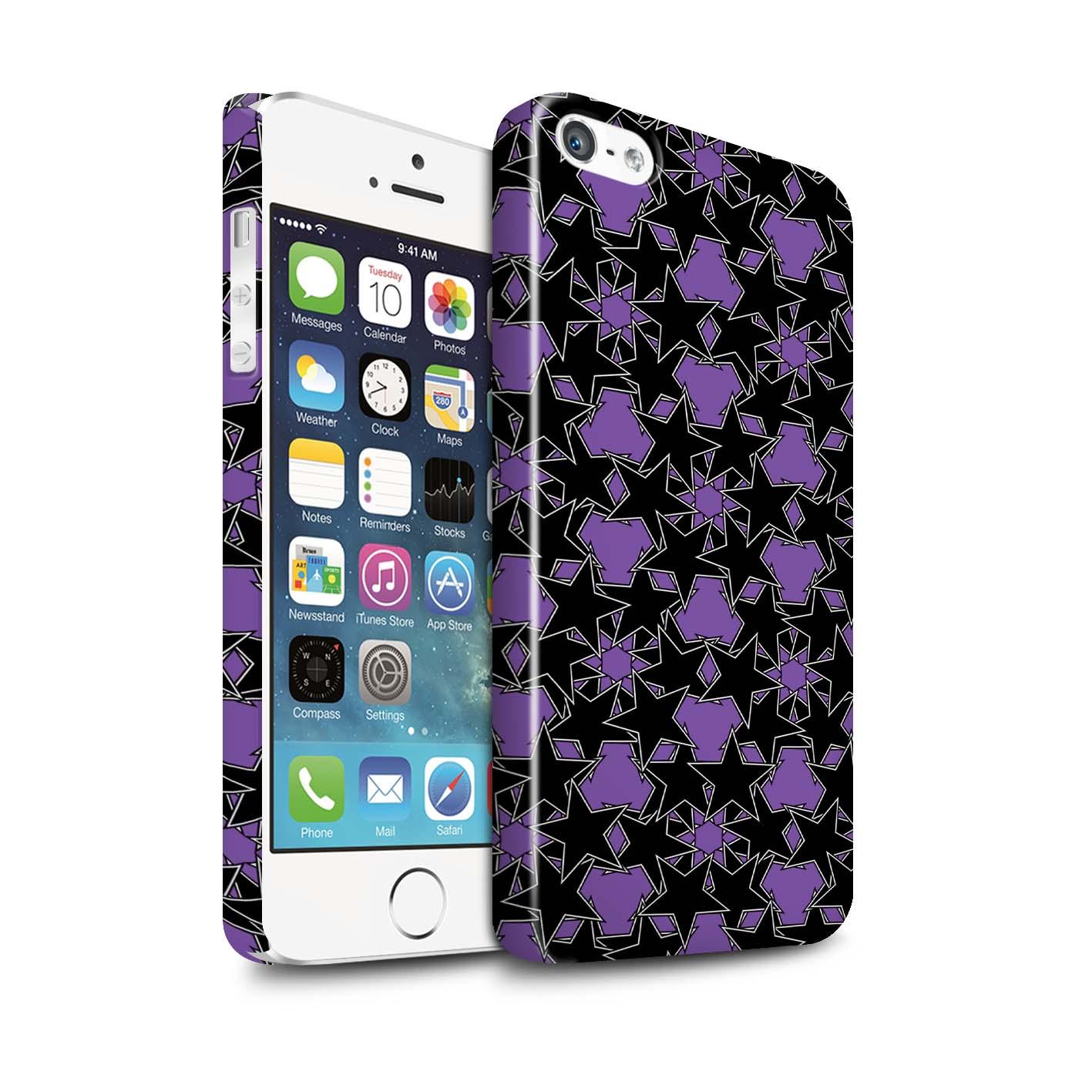 Coque-Etui-Brillant-de-STUFF4-pour-Apple-iPhone-5-5S-Eparpiller-Etoiles
