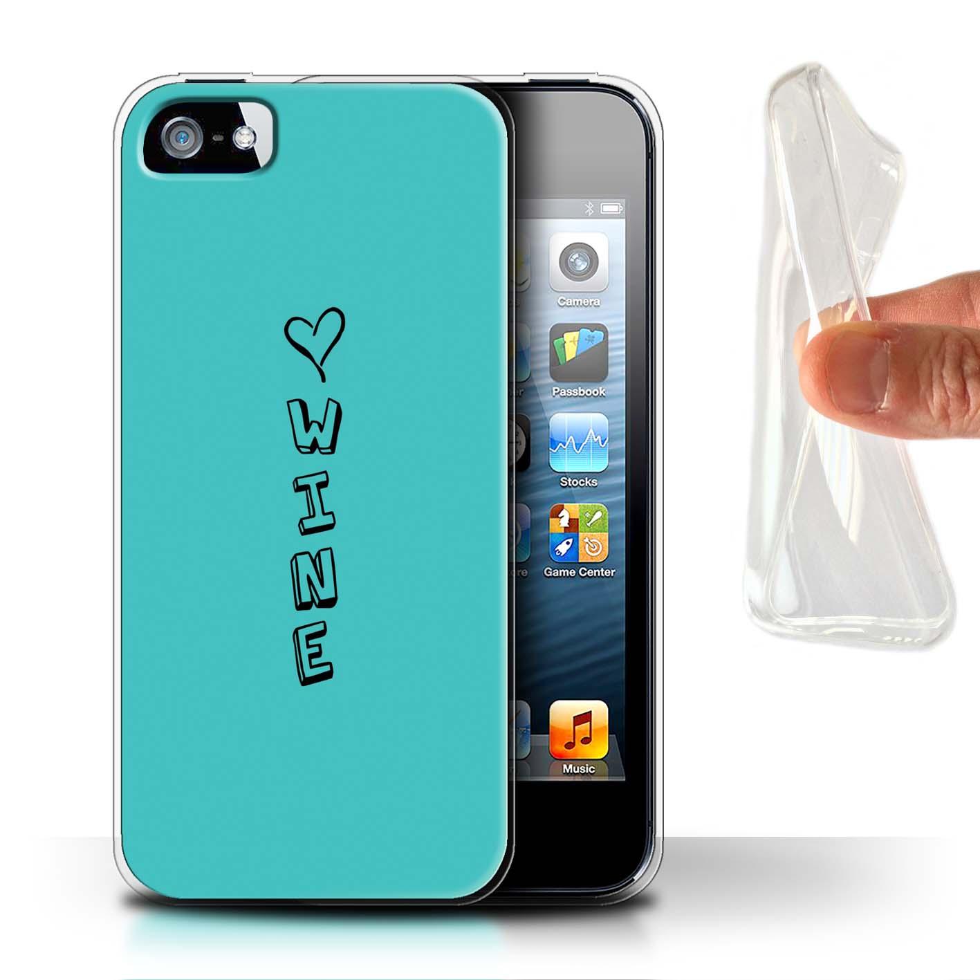 Stuff 4 Gel/TPU Funda de Teléfono para Apple iPhone 5/5S/Corazón Xoxo