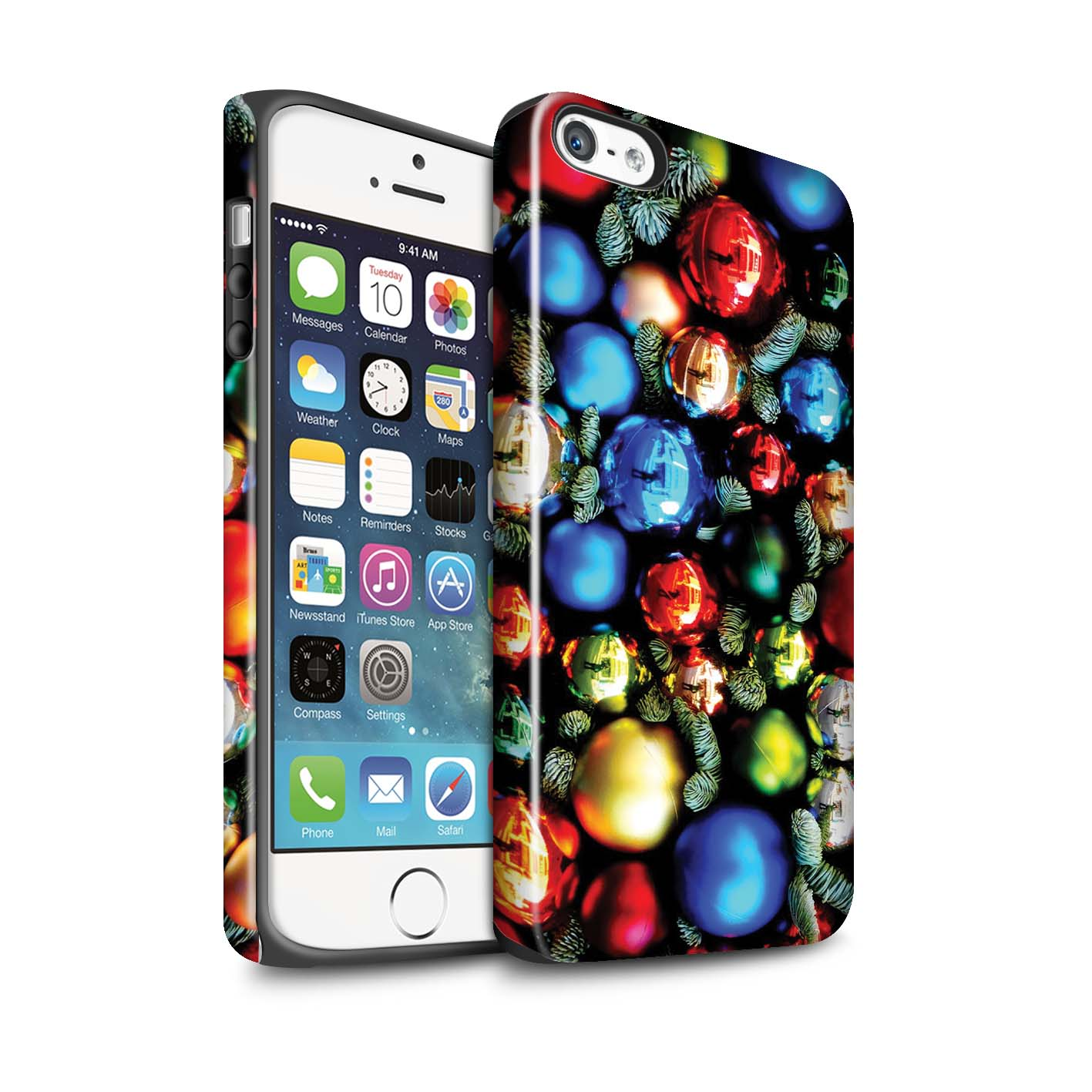 Robuste-Brillant-Antichoc-Etui-STUFF4-pour-Apple-iPhone-SE-Photo-de-Noel