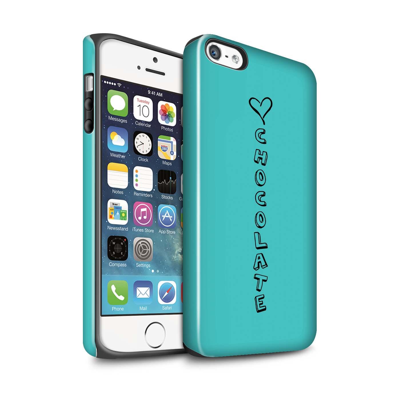 STUFF4 Glanz Zähen Stoßfestes Hülle/Case für Apple iPhone SE /Herz XOXO