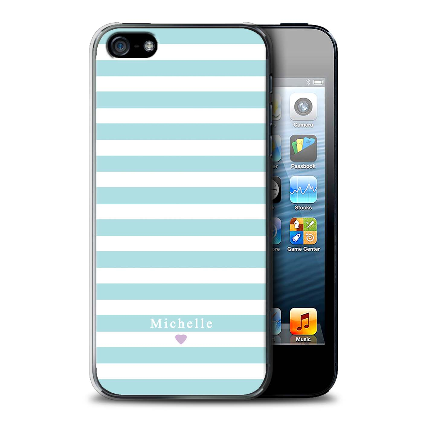 Personnalise-Rayures-Raye-Coutume-Coque-pour-Apple-iPhone-SE-Initiales-DIY-Etui