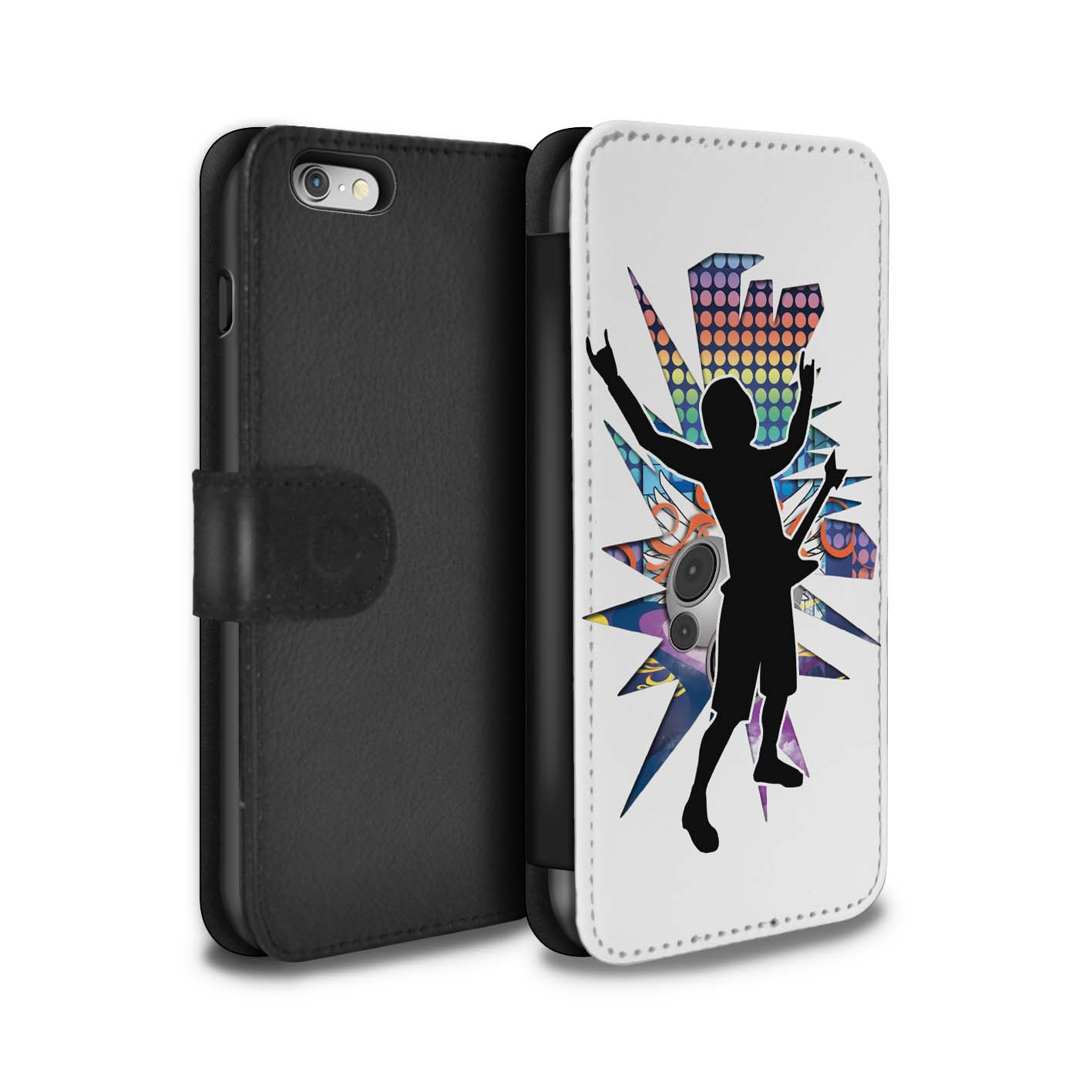 STUFF4-Coque-Etui-Case-Cuir-PU-pour-Apple-iPhone-6-Rock-Star-Pose