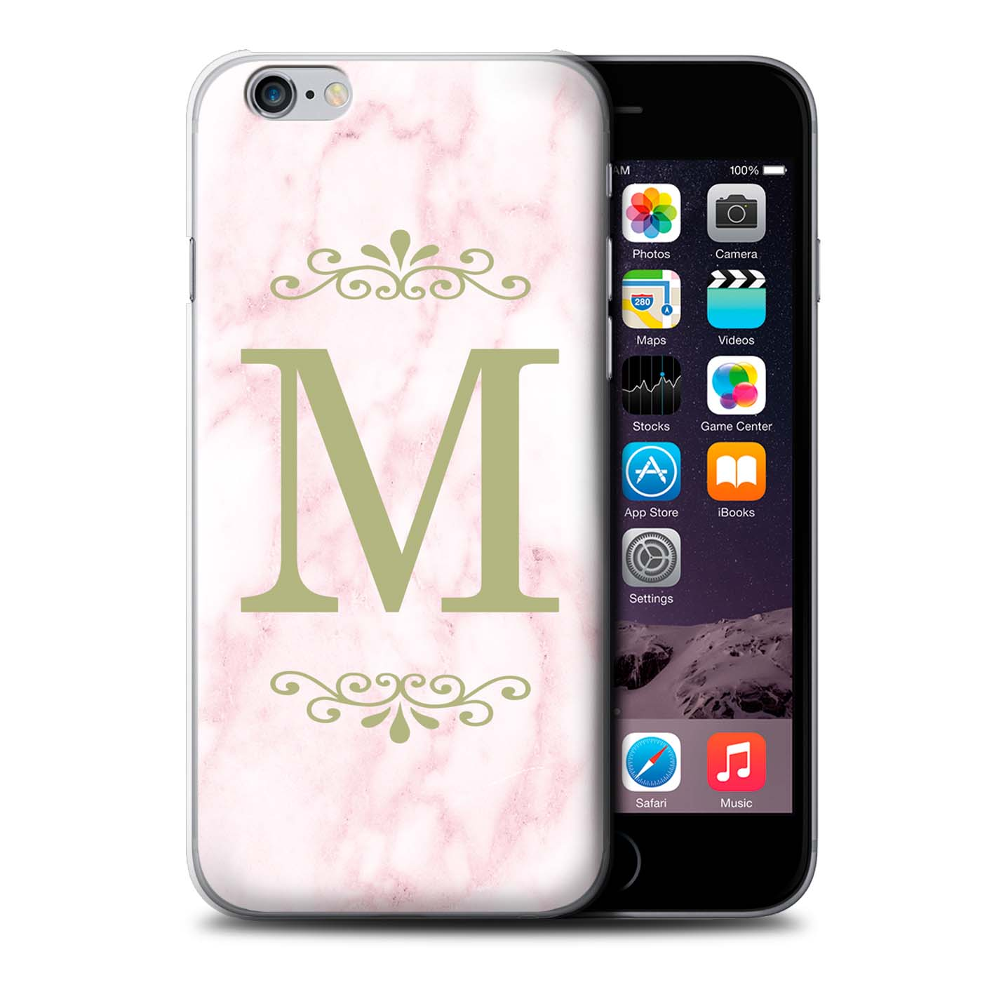 Personalised Pink Marble Fashion Phone Case for Apple iPhone 6