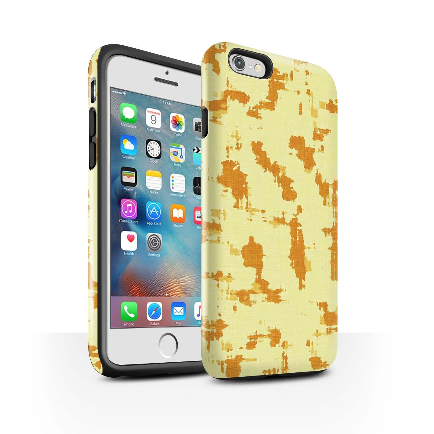 STUFF4-Gloss-Tough-Phone-Case-for-Apple-iPhone-6-Plus-5-5-Yellow-Fashion