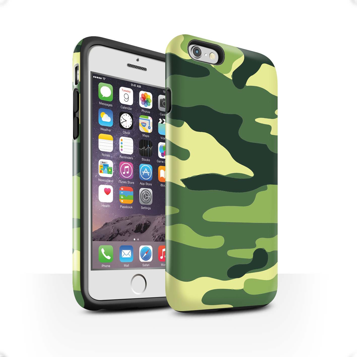 Robuste-Brillant-Antichoc-Etui-STUFF4-pour-Apple-iPhone-6S-Camouflage-Army-Navy
