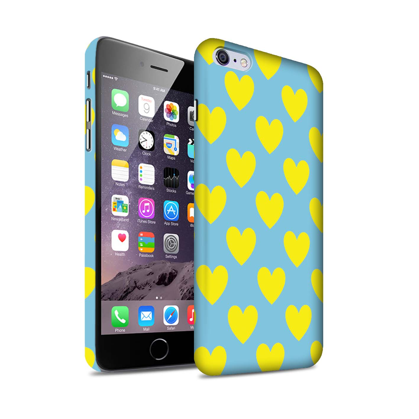 STUFF4-Matte-Phone-Case-for-Apple-iPhone-6S-Plus-Yellow-Fashion