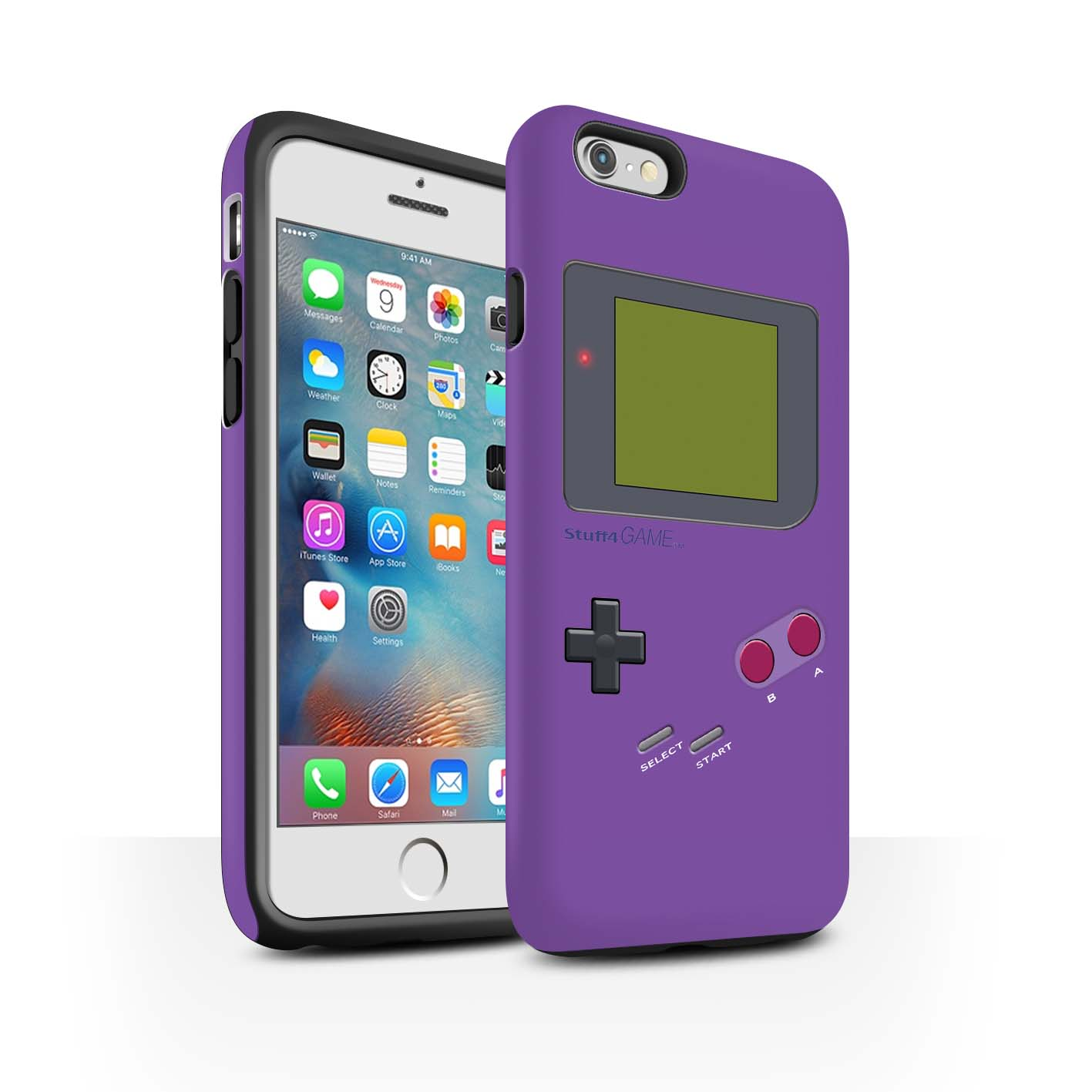STUFF4-Matte-Tough-Phone-Case-for-Apple-iPhone-6S-Plus-Video-Gamer-Gameboy