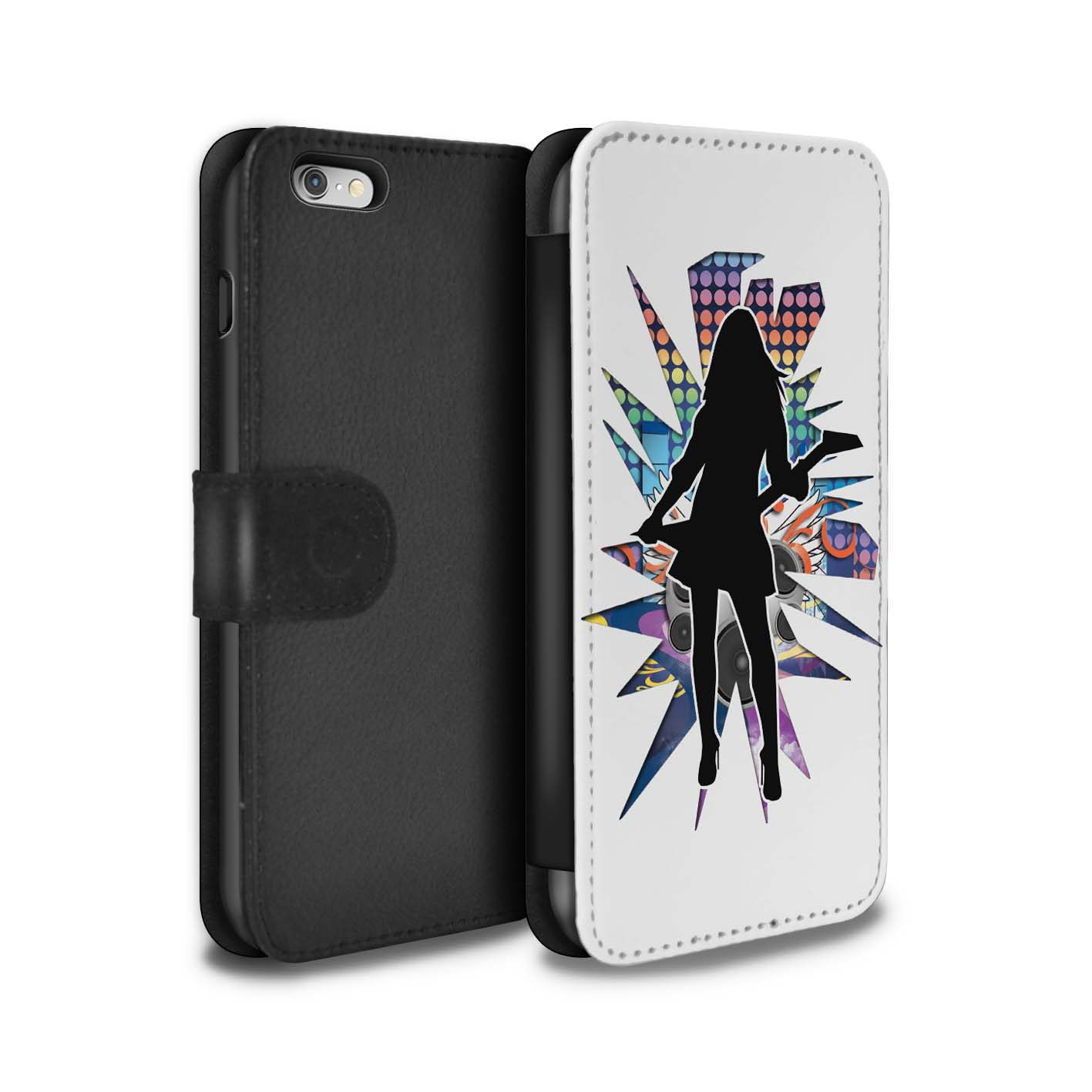 STUFF4-Coque-Etui-Case-Cuir-PU-pour-Apple-iPhone-6S-Plus-Rock-Star-Pose