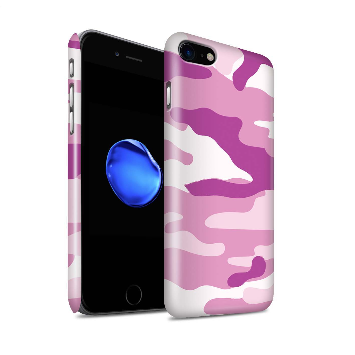 Coque-Etui-Brillant-de-STUFF4-pour-Apple-iPhone-7-Armee-Camouflage