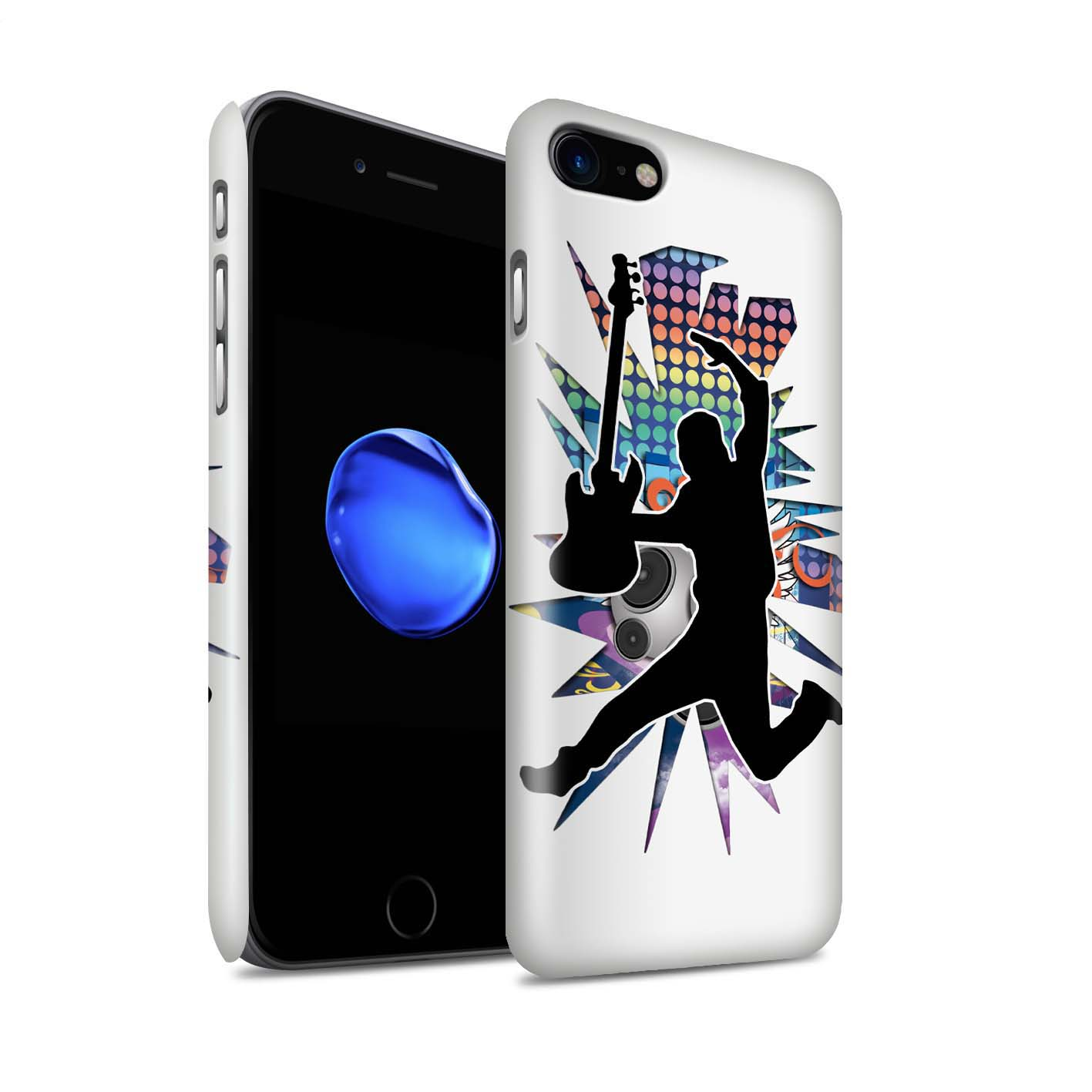 Coque-Etui-Brillant-de-STUFF4-pour-Apple-iPhone-7-Rock-Star-Pose