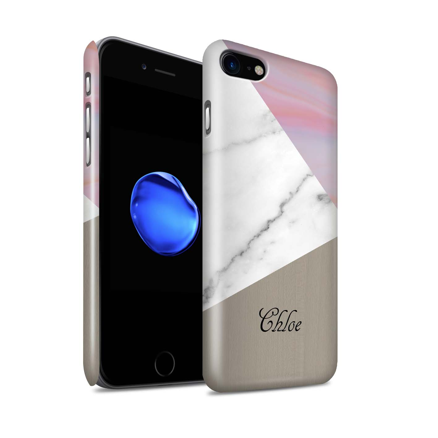 coque iphone 7 plus marbre brillant
