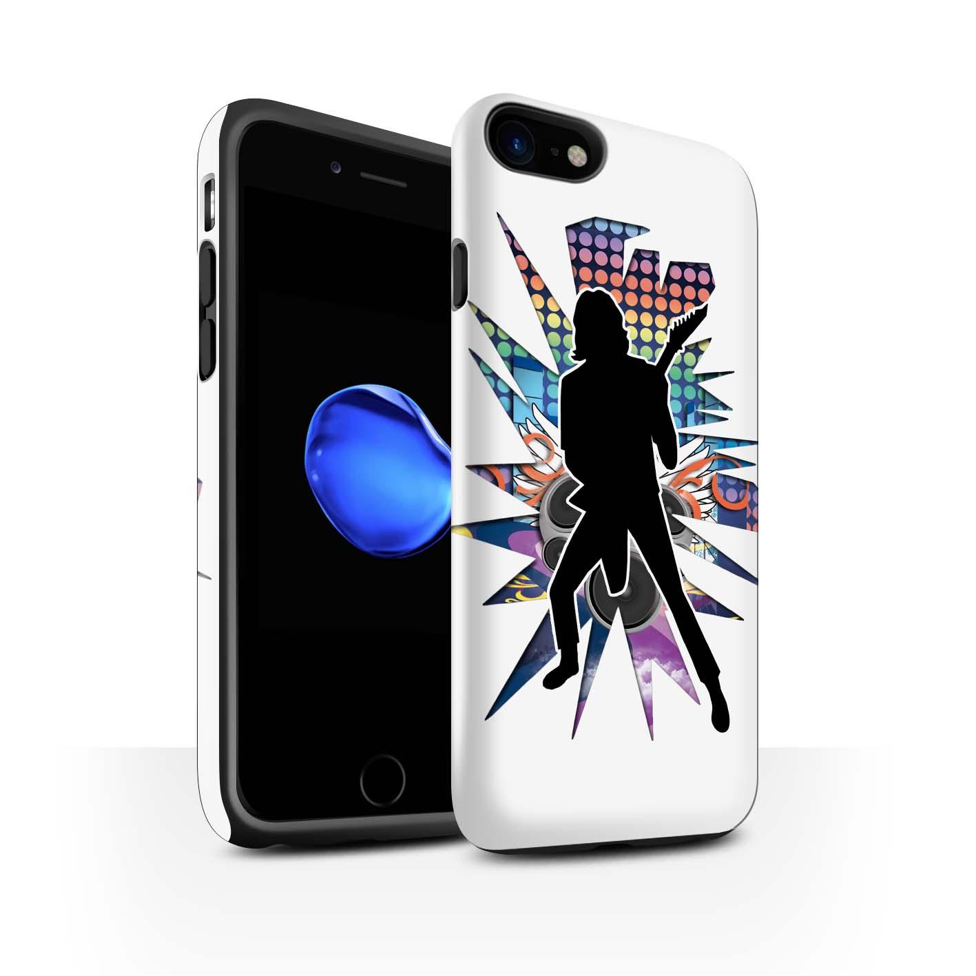 Robuste-Matte-Antichoc-Etui-STUFF4-pour-Apple-iPhone-7-Rock-Star-Pose