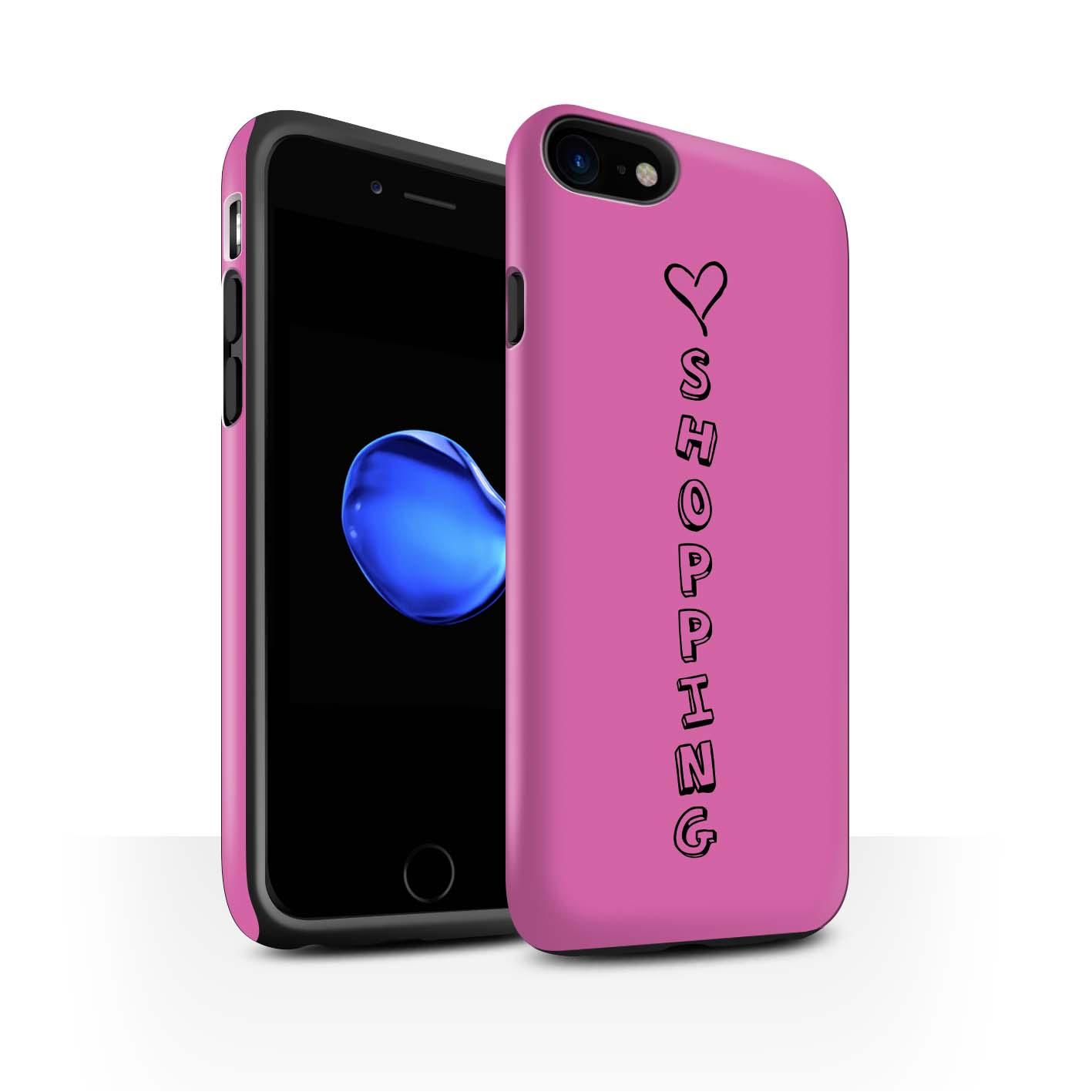 STUFF4 Matte Zähen Stoßfestes Hülle/Case für Apple iPhone 7 /Herz XOXO