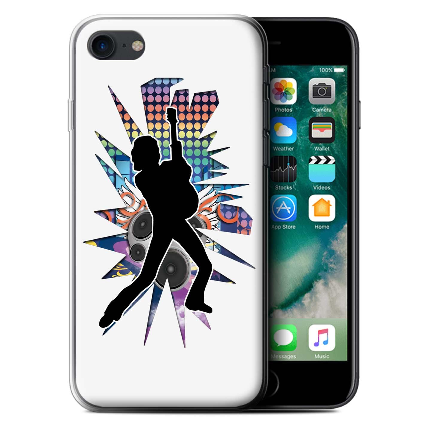 Gel-TPU-Coque-Etui-de-Stuff4-pour-Apple-iPhone-7-Rock-Star-Pose