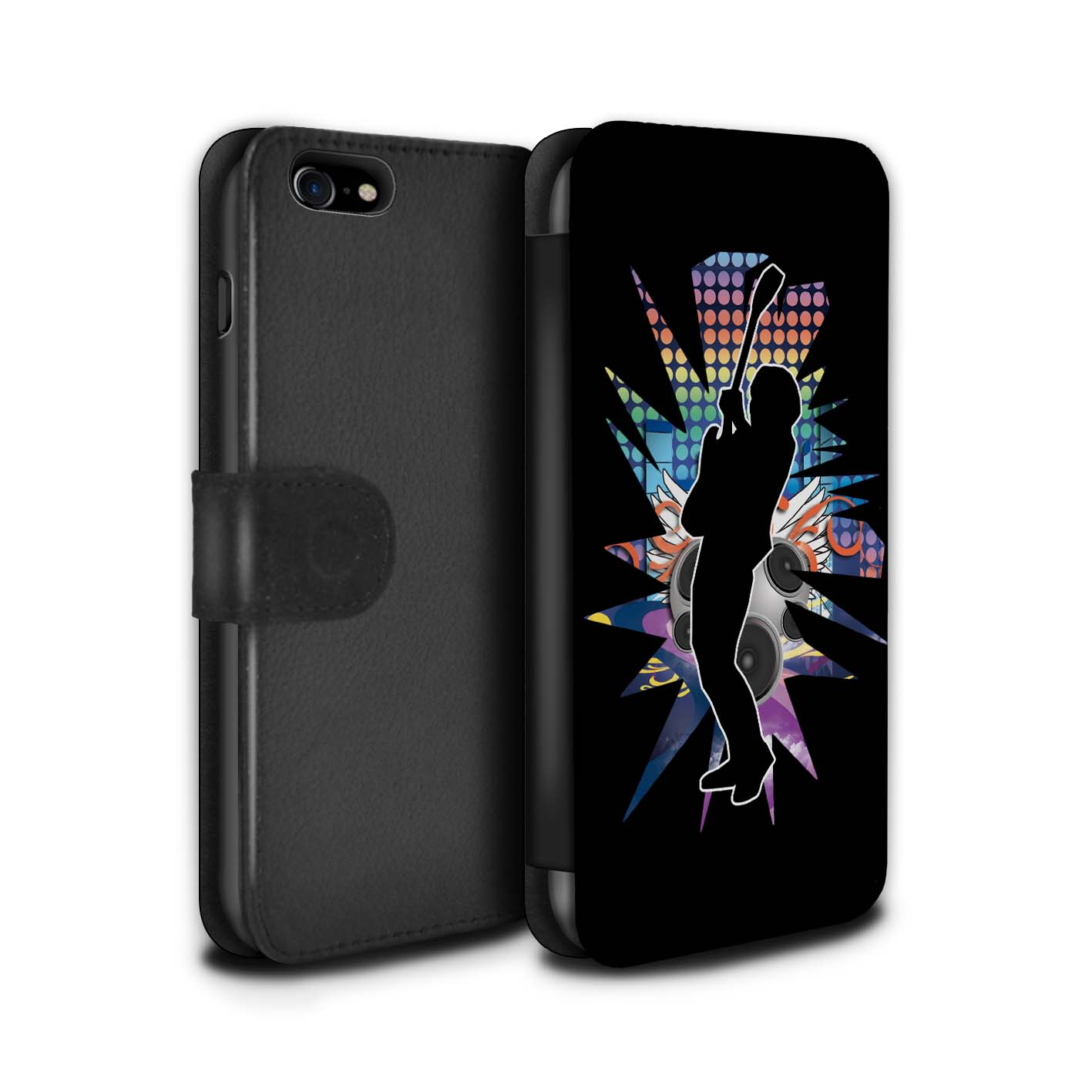 STUFF4-Coque-Etui-Case-Cuir-PU-pour-Apple-iPhone-7-Rock-Star-Pose
