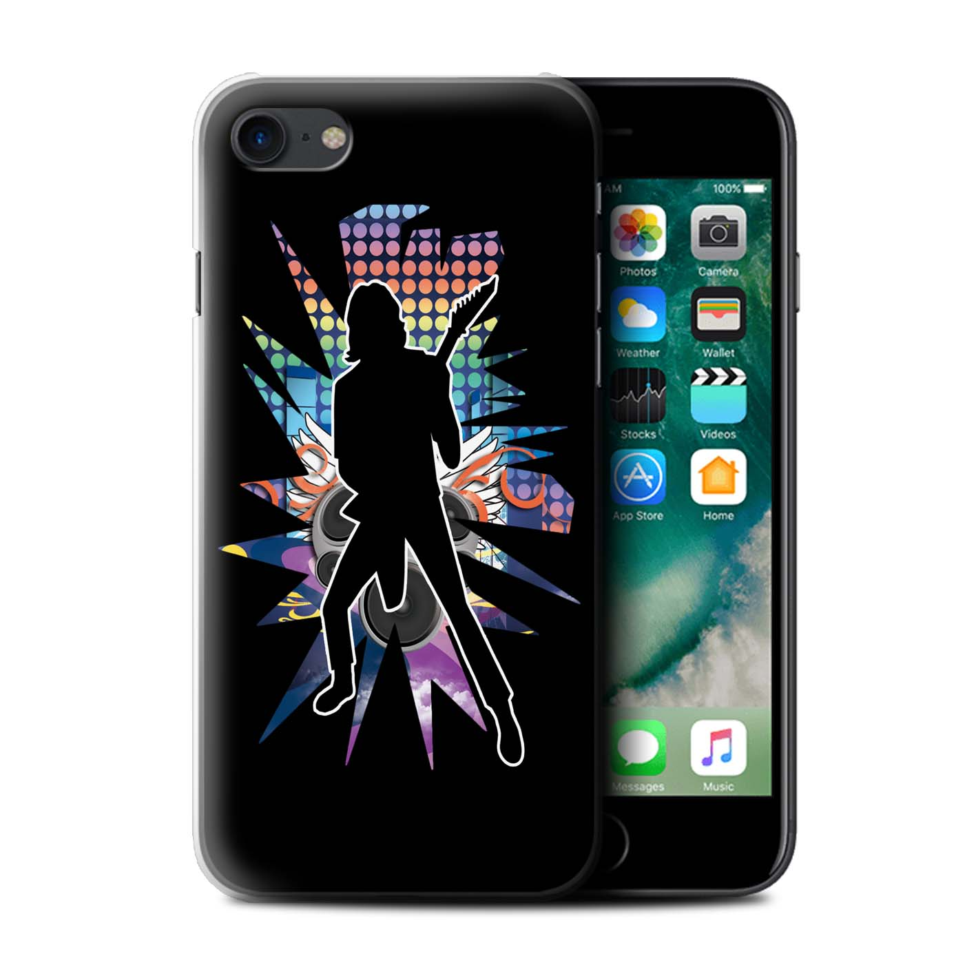 Coque-Etui-Housse-de-Stuff4-pour-Apple-iPhone-7-Rock-Star-Pose