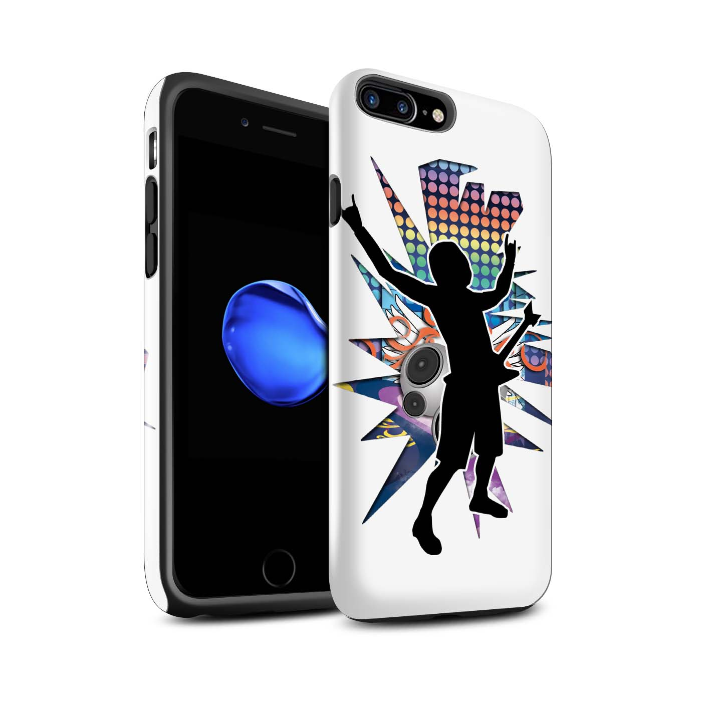 Robuste-Brillant-Antichoc-Etui-STUFF4-pour-Apple-iPhone-7-Plus-Rock-Star-Pose