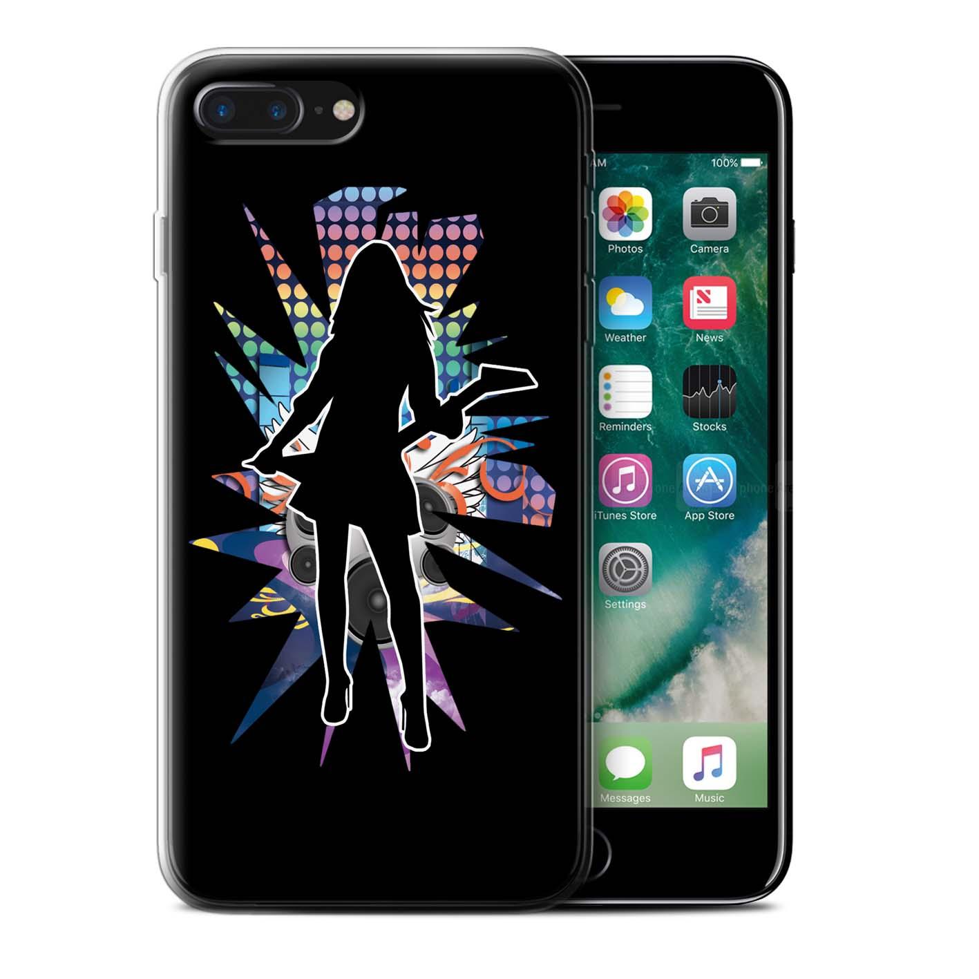 Gel-TPU-Coque-Etui-de-Stuff4-pour-Apple-iPhone-7-Plus-Rock-Star-Pose