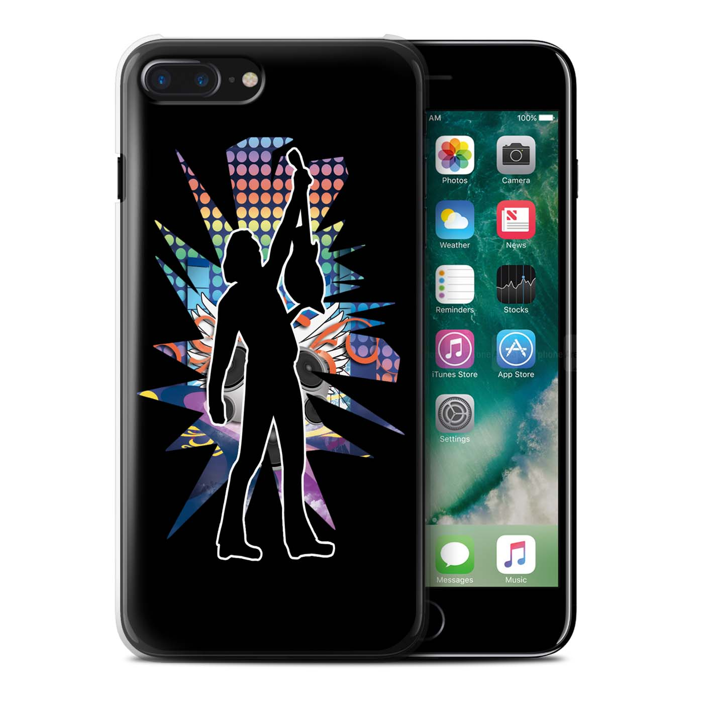 Coque-Etui-Housse-de-Stuff4-pour-Apple-iPhone-7-Plus-Rock-Star-Pose
