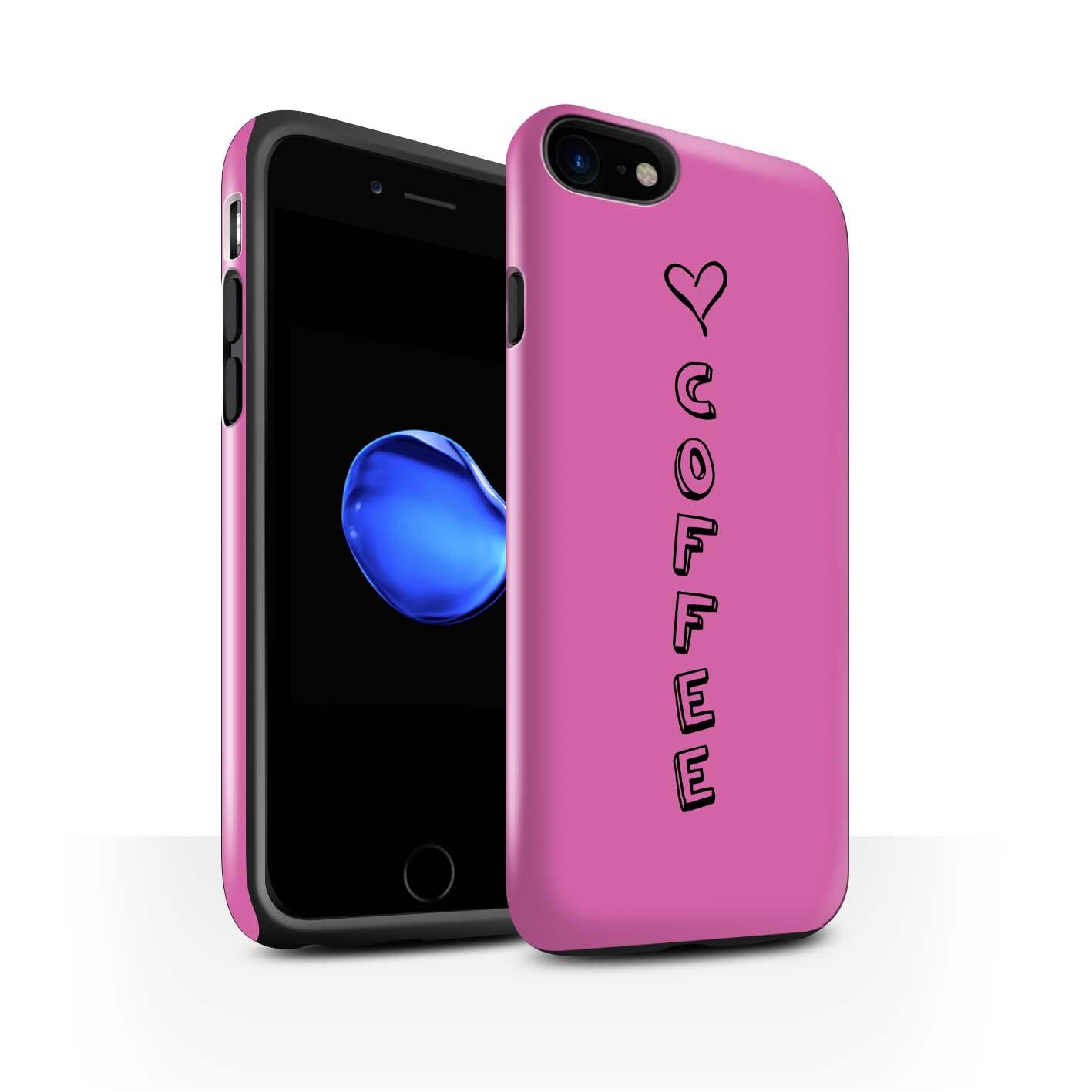 STUFF4 Glanz Zähen Stoßfestes Hülle/Case für Apple iPhone 8 /Herz XOXO
